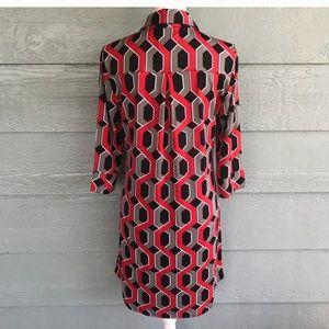 Tracy Negoshian Dresses - Nwt print shirt dress